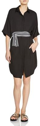 Maje Rasper Belted Shirt Dress $275 thestylecure.com
