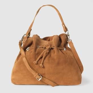 La Redoute Collections Suede Bucket Bag