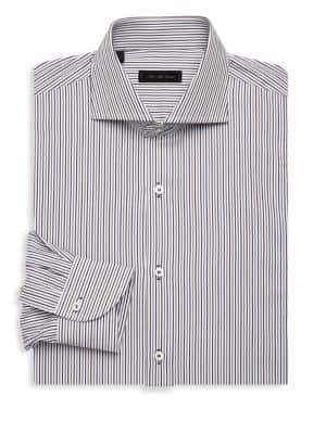 Saks Fifth Avenue COLLECTION Stripe Dress Shirt