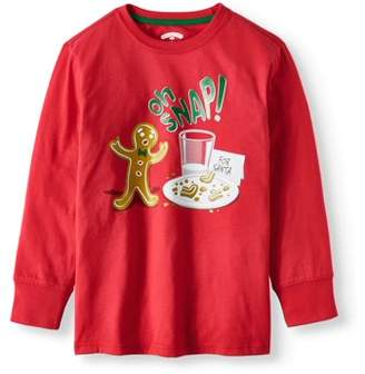 Long Sleeve Christmas Holiday Graphic T-shirts (Little Boys & Big Boys)