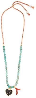 Lizzie Fortunato Malta gold-plated necklace