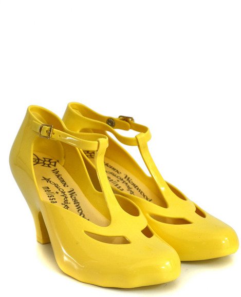 Anglomania Mary Jane Custard Yellow Shoes