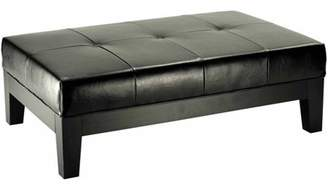 Safavieh Beechwood Bicast Leather Upholstered Cocktail Ottoman, Multiple Colors