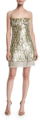 Alexis Izabell Sequined Fringe Cocktail Dress