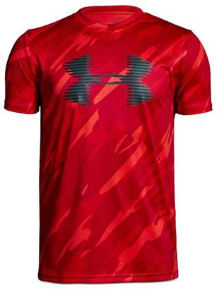 Under Armour Boys' Camo-Print Logo Tee - Big Kid