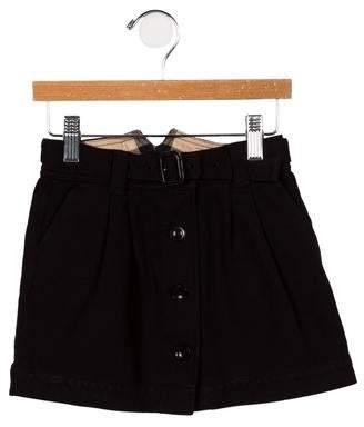 Burberry Girls' Button-Accented Skirt