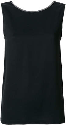 Fabiana Filippi boat neck tank top