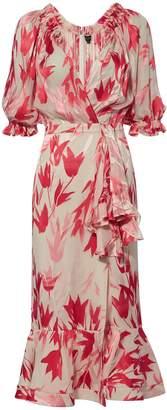 Saloni Olivia Floral Midi Dress