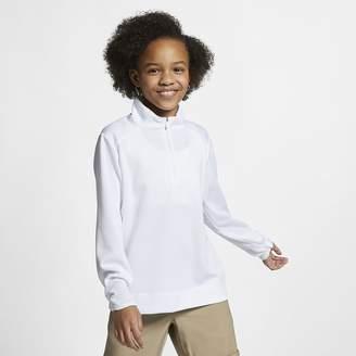 Nike Big Kids' (Girls') Long-Sleeve 1/4-Zip Golf Top Dri-FIT