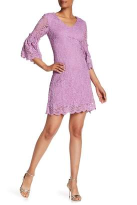 Taylor Floral Lace Bell Sleeve Dress