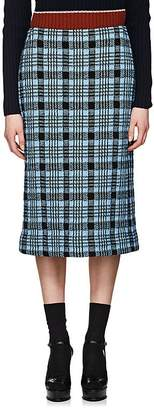 Dries Van Noten Women's Plaid Stockinette-Stitched Midi-Skirt