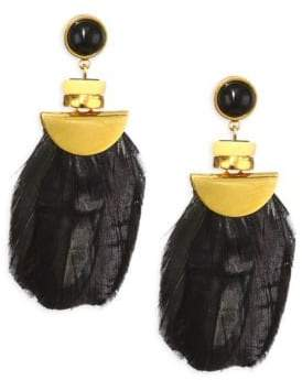 Lizzie Fortunato Feathered Eagle Drop Earrings