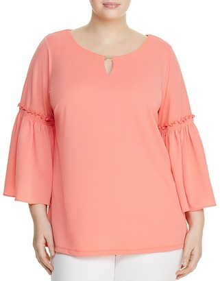 Calvin Klein Plus Belle Sleeve Top $89.50 thestylecure.com