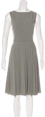 Armani Collezioni Pleated Midi Dress