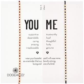 Dogeared Womens Wine/Black Friendship Bracelet