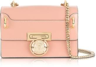 Balmain B.Box 20 Powder Pink Glossy Leather Flap Bag
