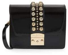 Mario Valentino Benedicte Round Stud Leather Crossbody Bag