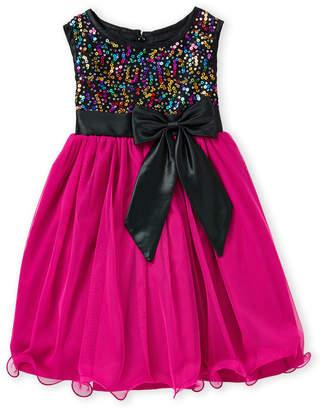 Princess Faith (Toddler Girls) Sequin Bow Tulle A-Line Dress