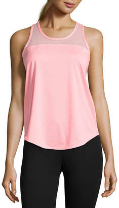 Xersion Mesh Ruched Back Tank Top