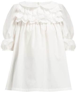 Comme des Garcons Broderie Anglaise Trimmed Cotton Blouse - Womens - White