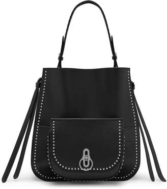 Mulberry Amberley Hobo Black Shiny Calf with Rivets