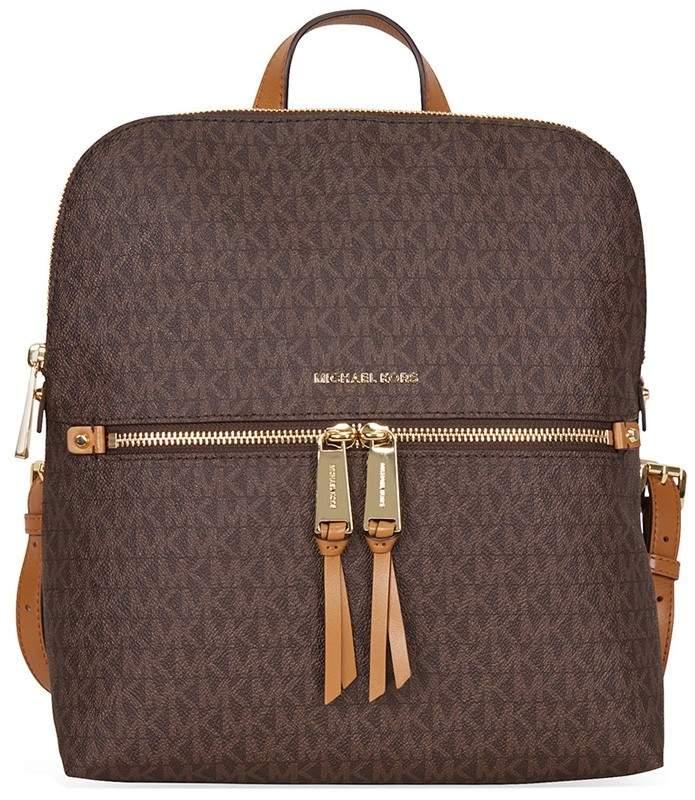 Michael Kors Rhea Medium Slim Backpack - Brown - ONE COLOR - STYLE