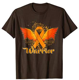 Leukemia Awareness T-Shirt Funny Warrior Orange Ribbon Gift
