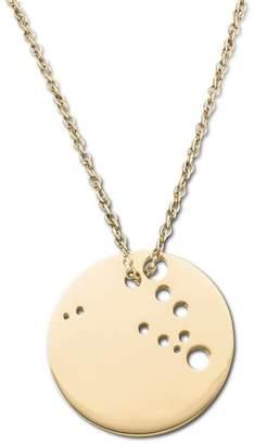 Ekria Capricorn Zodiac Necklace Shiny Yellow Gold