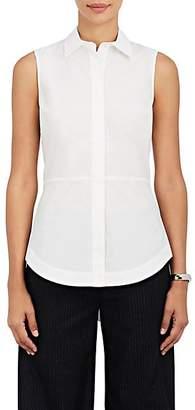 Derek Lam 10 Crosby Women's Lace-Up-Back Cotton Poplin Top - White
