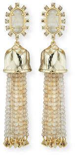 Kendra Scott Decker Beaded Tassel Statement Earrings