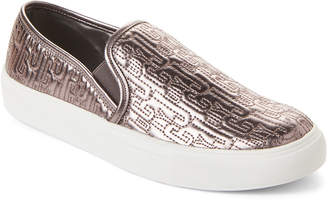 Juicy Couture Pewter Ruby Logo Slip-On Sneakers