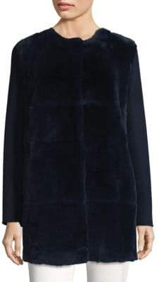 Aire Fur Paneled Long Coat