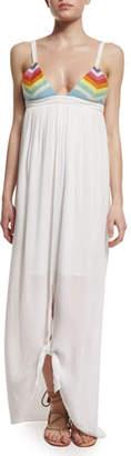 Mara Hoffman Prismatic Tie-Front Maxi Dress $275 thestylecure.com