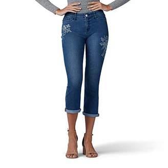 Lee Women's Petite Flex Motion Regular Fit 5 Pocket Capri Jean