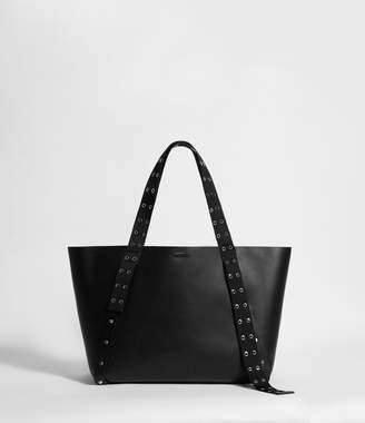 AllSaints Sid Leather East West Tote Bag