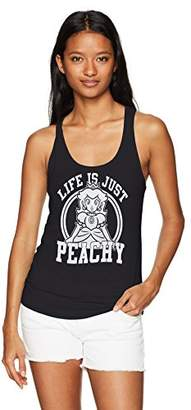 Nintendo Women's Life's Just Princess Peachy Ideal Racerback Graphic Tank Top