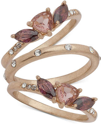 lonna & lilly Gold-Tone 3-Pc. Set Multi-Stone Rings, Created for Macy's