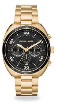 Michael Kors Dane Goldtone Stainless Steel Chronograph Watch