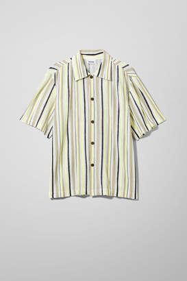 Weekday Ernesto Short Sleeve Shirt - Yellow