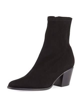 Vince Hayek Suede Block-Heel Sock Booties