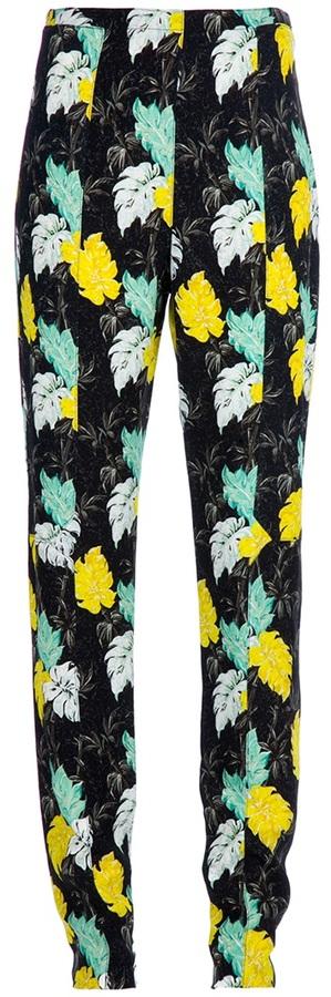 Proenza Schouler leaf print trouser