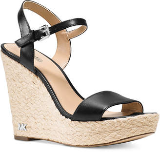 MICHAEL Michael Kors Jill Espadrille Wedge Sandals $135 thestylecure.com