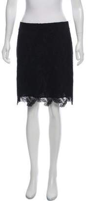 Emilio Pucci Lace Knee-Length Skirt w/ Tags Black Lace Knee-Length Skirt w/ Tags