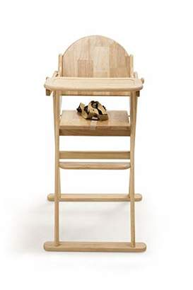 Safetots Simply Safe Folding Wooden Highchair, Natural