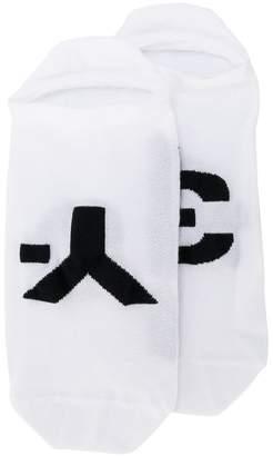 Y-3 logo trainer socks