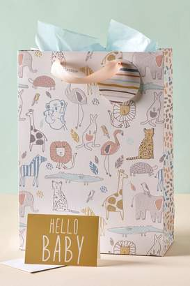 Next Hello Baby Bag, Card And Tissue Set - Yellow