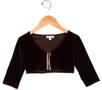 Zoe Girls' Cropped Velvet Jacket