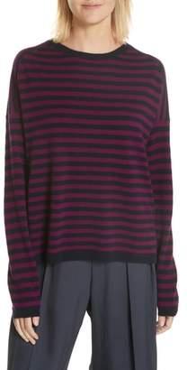 Vince Cashmere Stripe Boxy Sweater