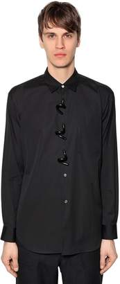 Comme des Garcons Spiral Buttons Cotton Poplin Shirt