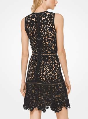 MICHAEL Michael Kors Embellished Floral Suede Dress